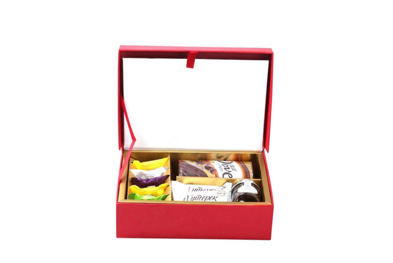 chocolate and candy wedding invitation gift box