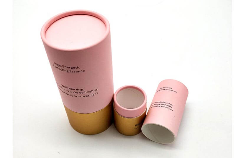 Tubular cosmetic packaging boxes