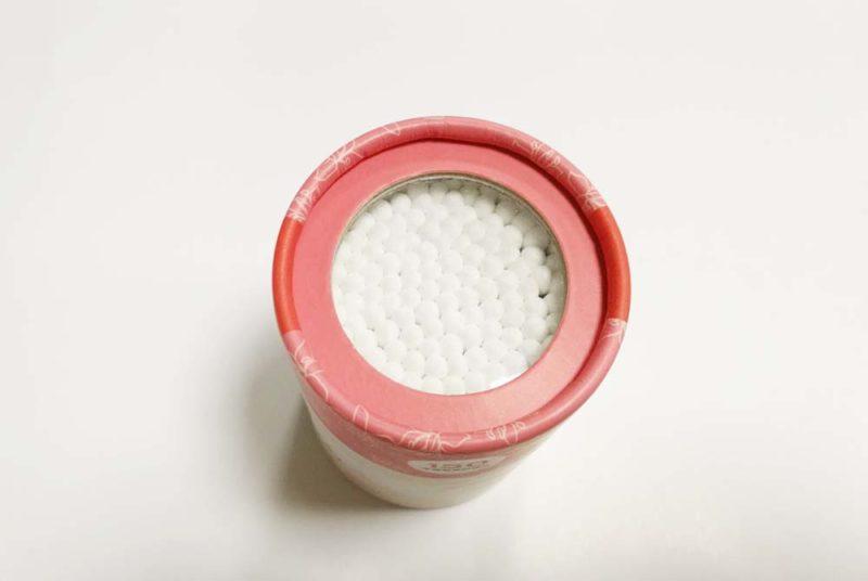 cotton swab container