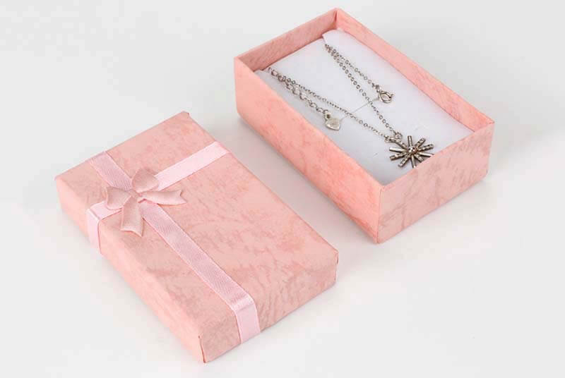 jewelry gift box paper packaging with bowknot