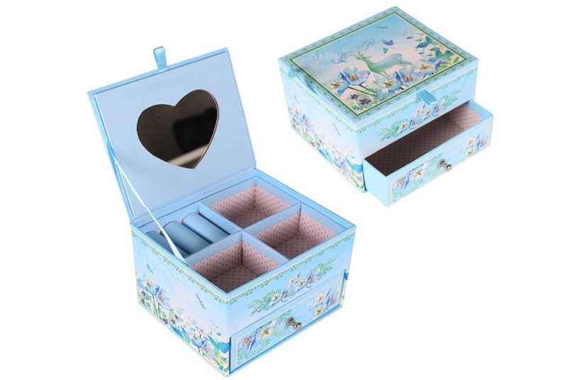 mirror glass jewelry box