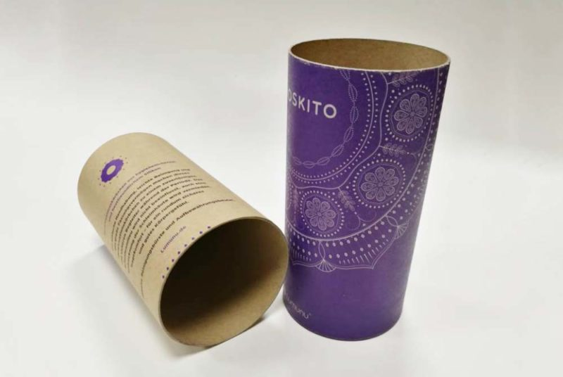 kraft cylinder packaging box
