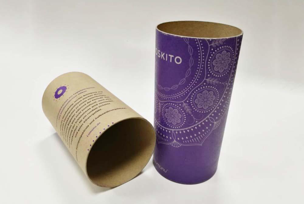 kraft cylinder packaging box
