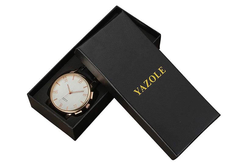 eco watch box luxury packaging with sponge EVA insert