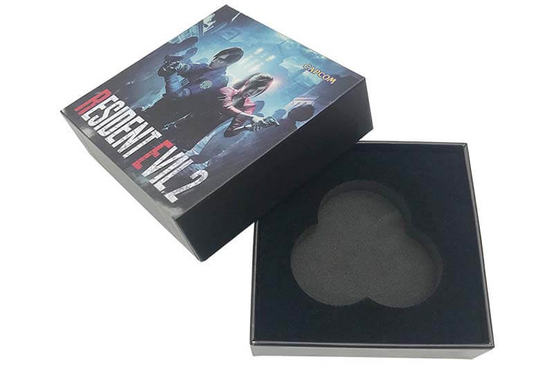 oem cheap price lid and base box with EVA insert