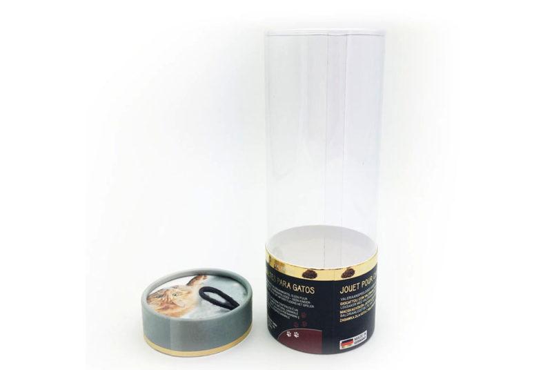 transparent pvc tube box packaging