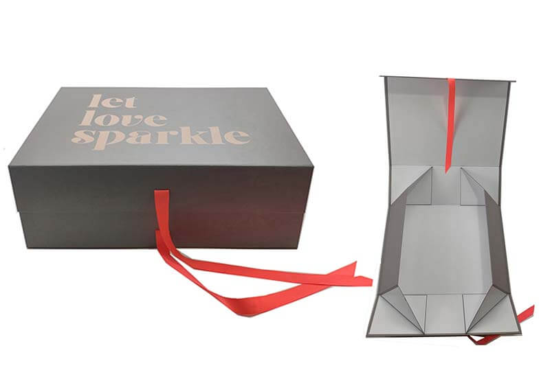 rigid foldable cardboard gift box