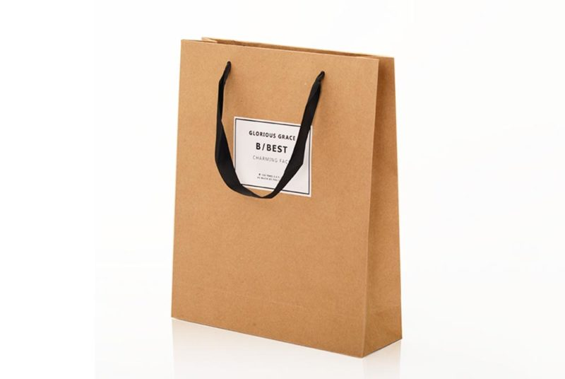 brown bags with handles