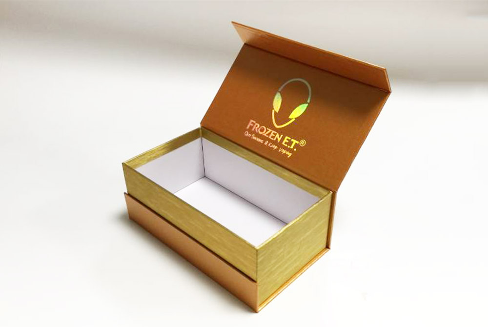 rigid paper board flip top gift box