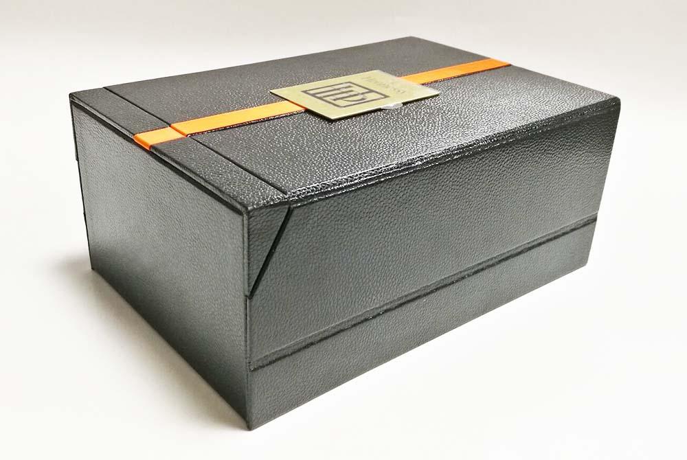 custom leather wine box