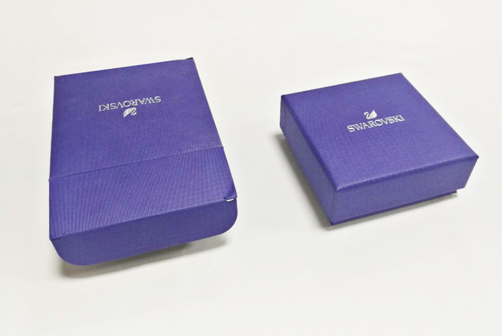 Blue Color Custom Jewelry Box Cardboard Paper Packaging With Logo