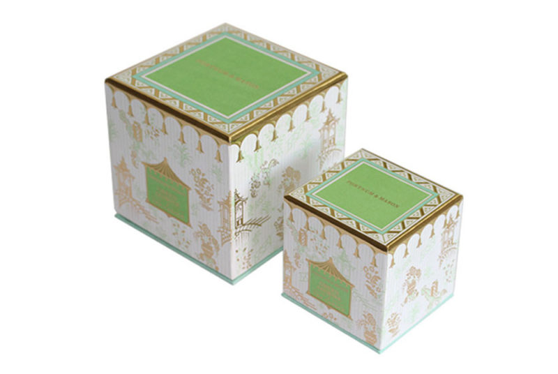 candle container with lid and box