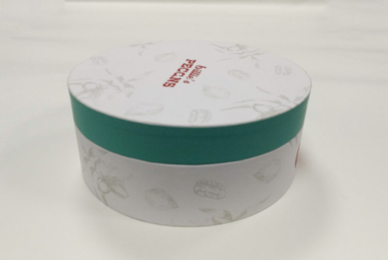round cardboard food box