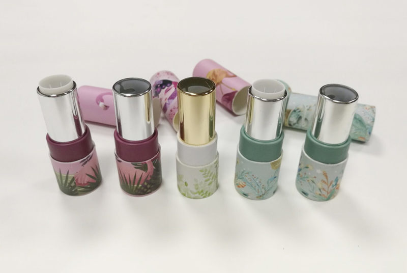 rotate cosmetic lip balm paper tube container