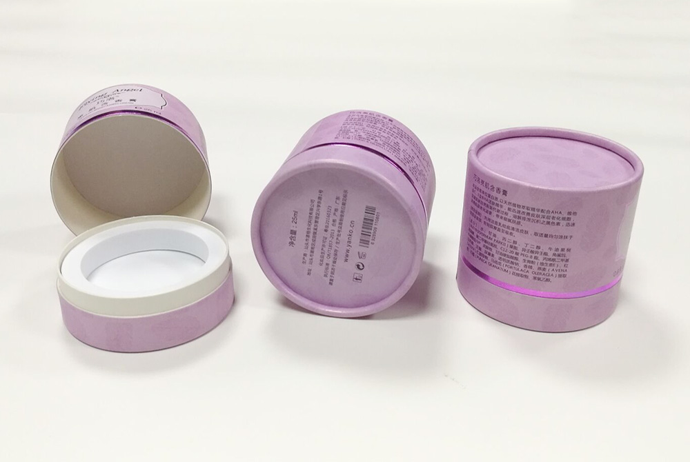 cylinder cosmetic paper box