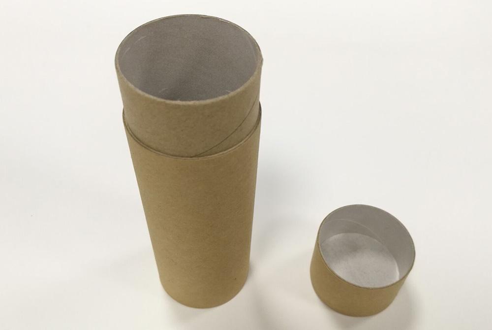 round paper deodorant container