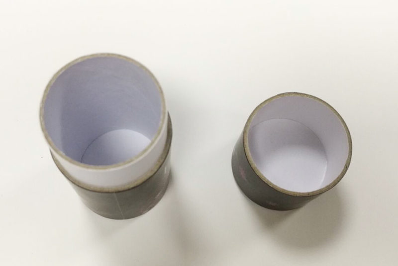 round paper cosmetics containers