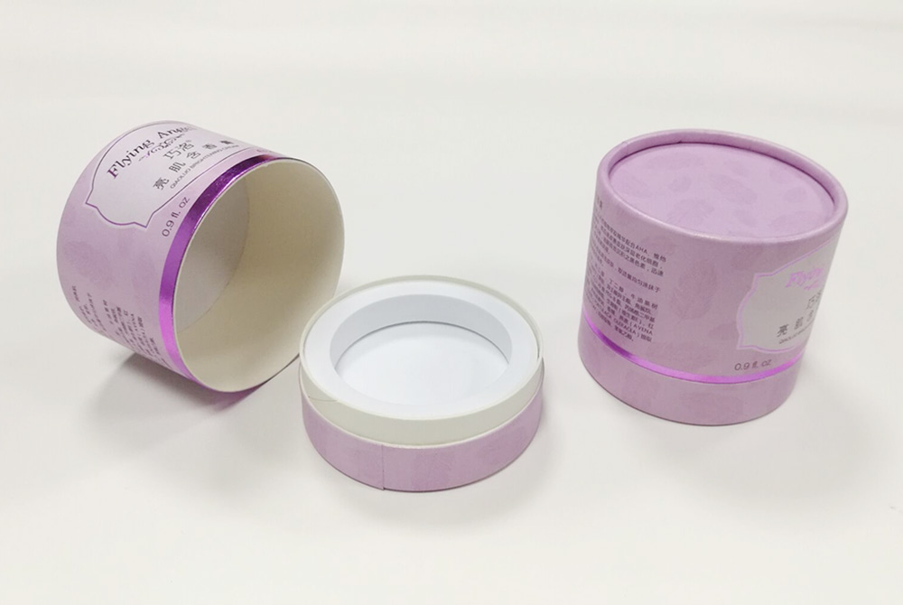 round paper cosmetic eco box