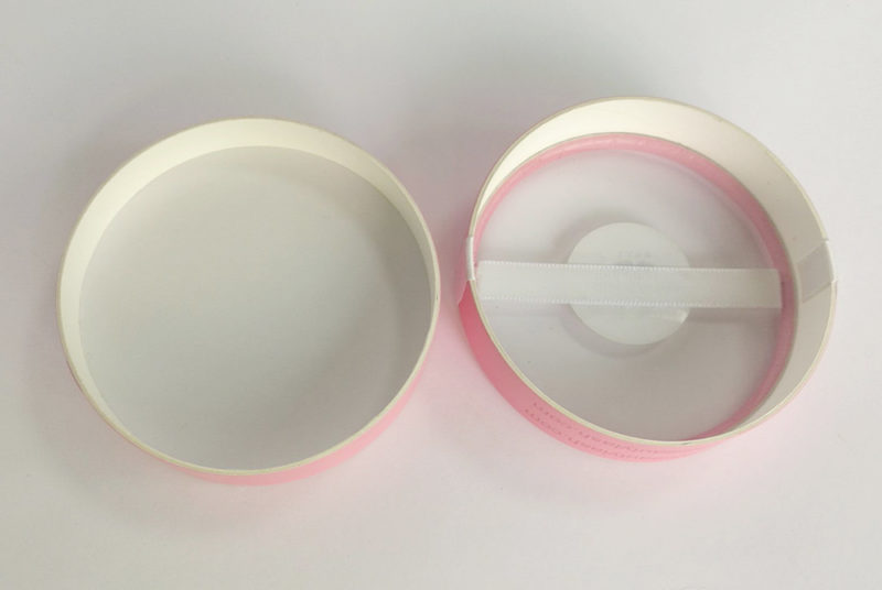 round paper eye lash box