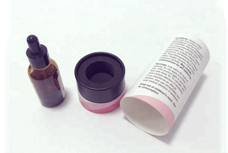 tube box for glass perfume bottle