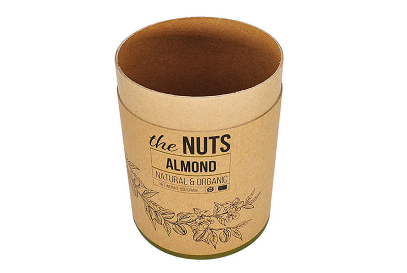 round paperboard hat box for fruit and nuts packaging