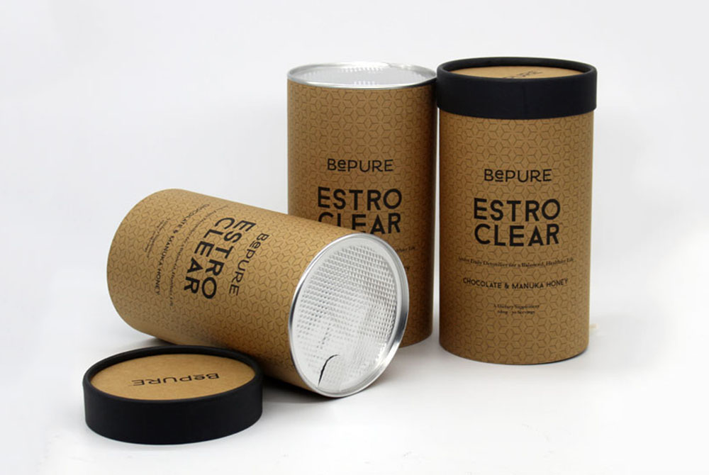 cardboard cylinder protein powder packaging boxes