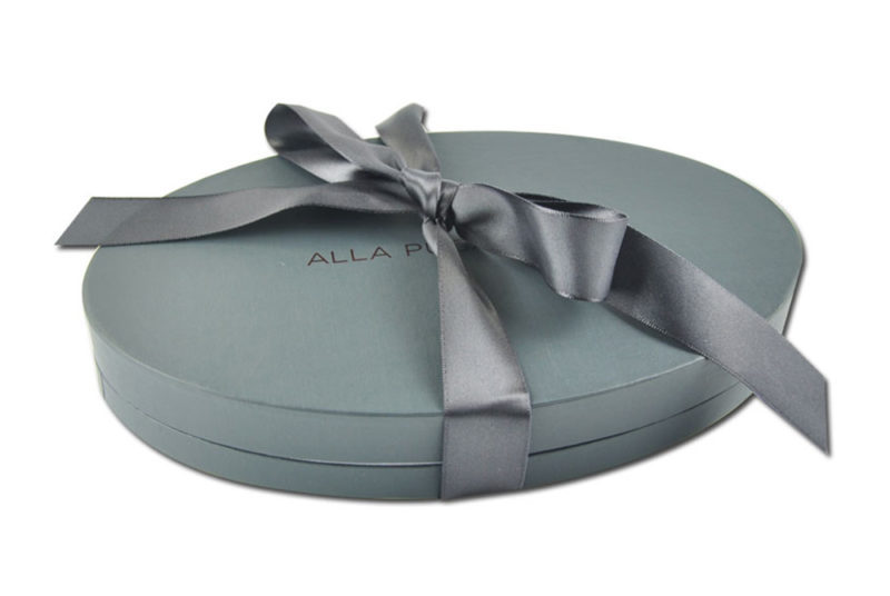 oval shape jar packaging box for jewelry
