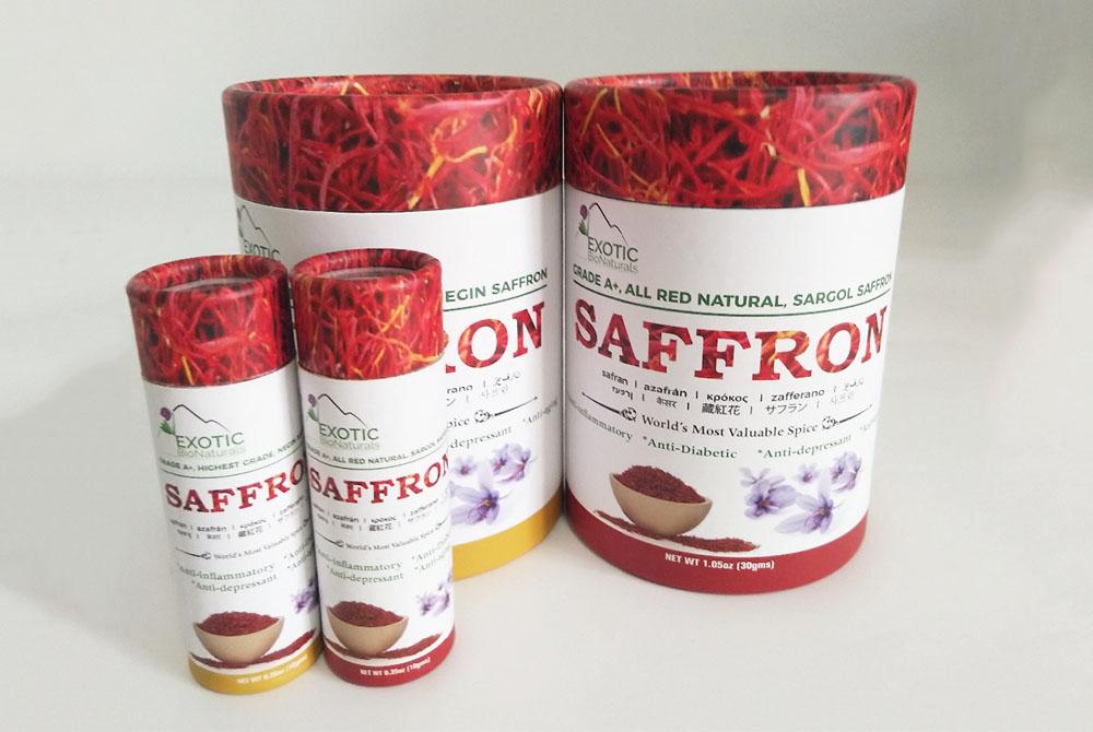saffron packing tubes set