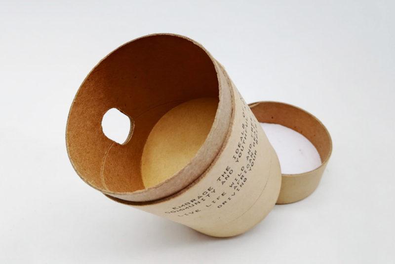 cylinder box cardboard jar packaging for small wifi speaker