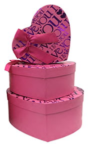 heart shape gift packaging boxes