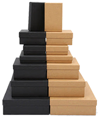 square shape paper storage boxes