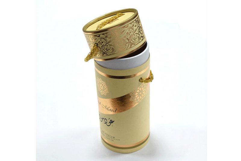 cylinder shaped cardboard box for parfum bottles