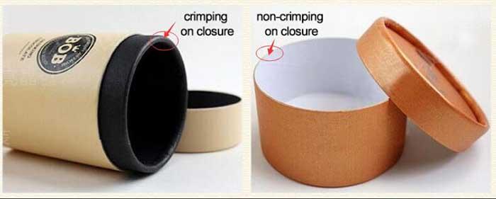 tube box closure style