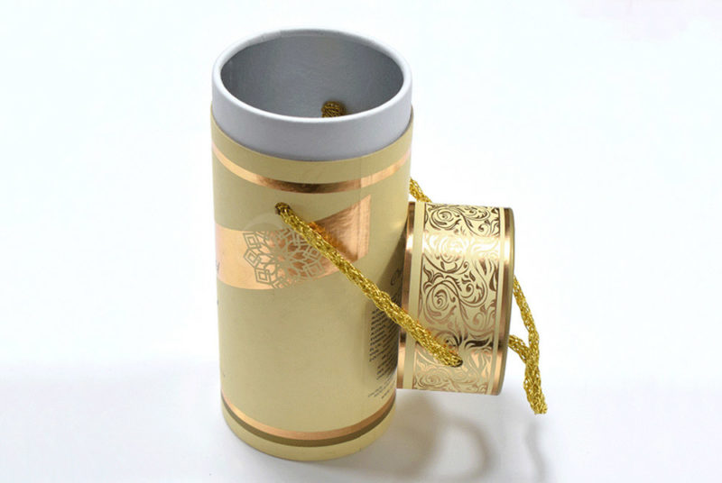 mini cylinder packaging box for 100ml parfum