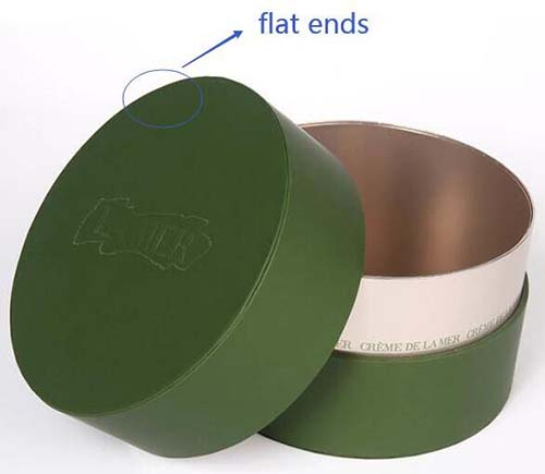 flat ends round gift tube