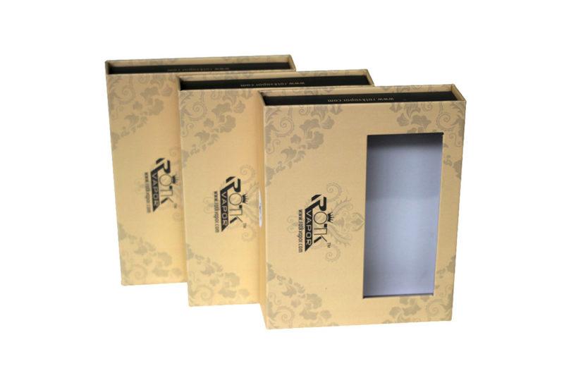 rigid paper packaging box window