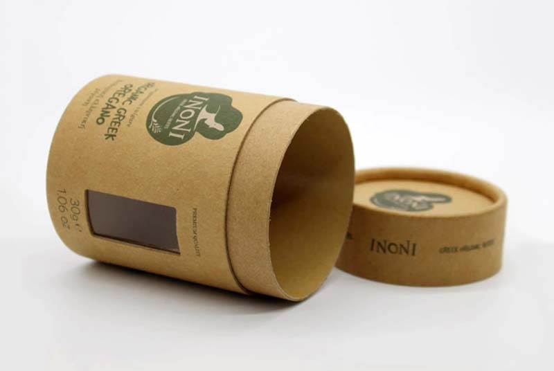 round shape eco friendly packaging for tea