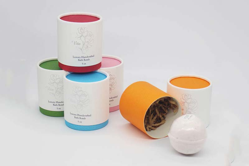 round biodegradable soap packaging boxes