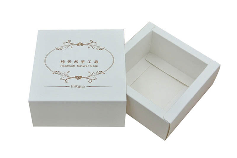 white color single soap paper box packaging
