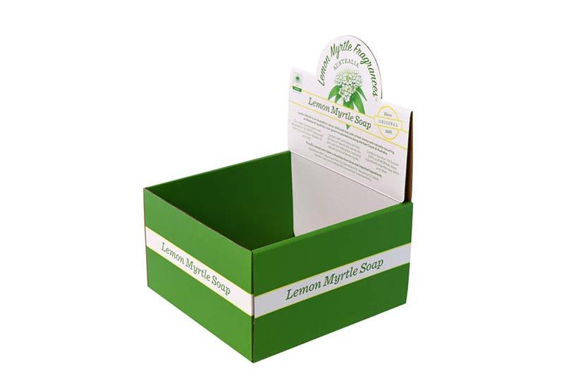 eco soaps private label counter display box