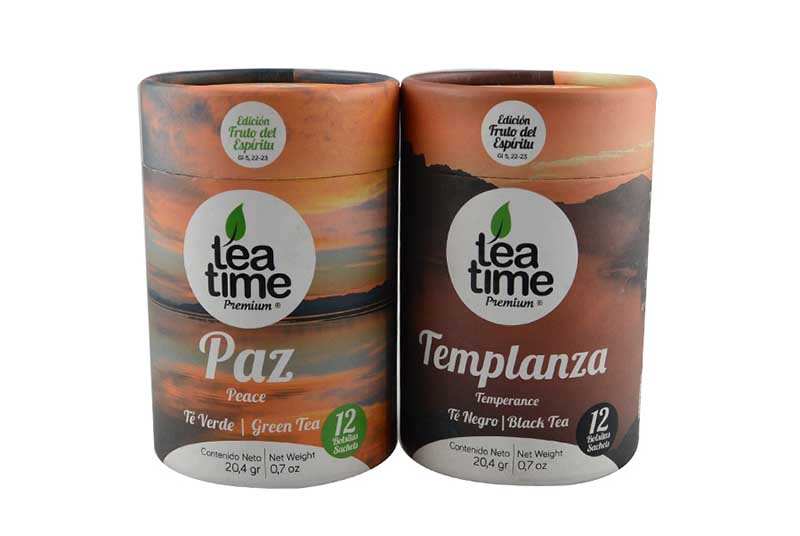 eco packaging round papier tea box tubes