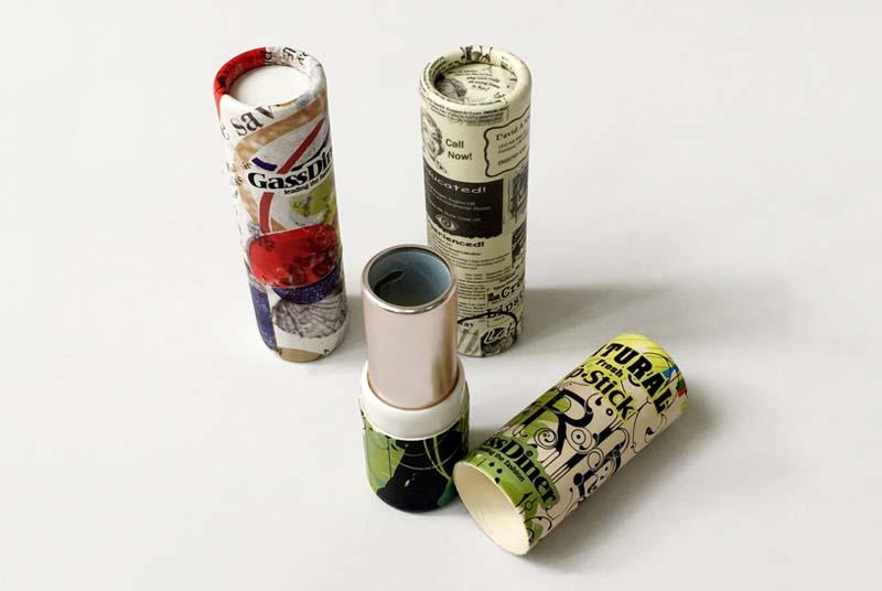 cardboard lip balm containers