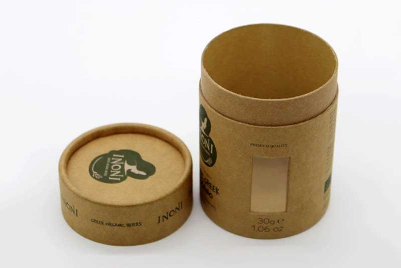 custom round paper box with window