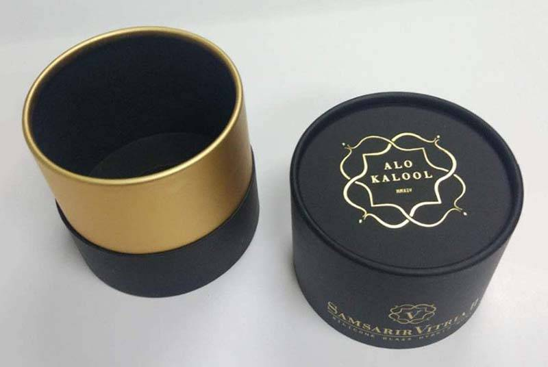 cardboard round box perfume bottle packing boxes