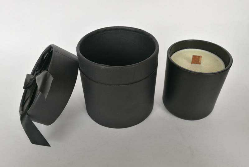 black cardboard paper tube for candle