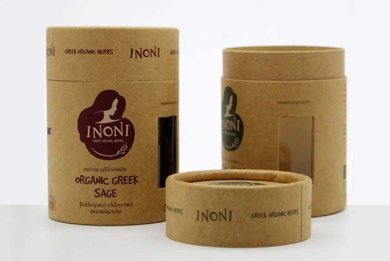 creative design brown craft paper tea can