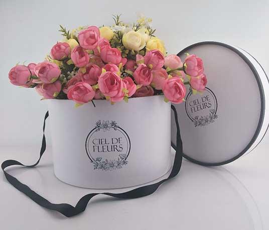 round flower rose box