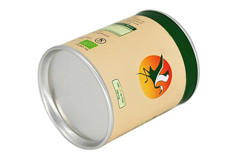 eco food paper tube packaging tin