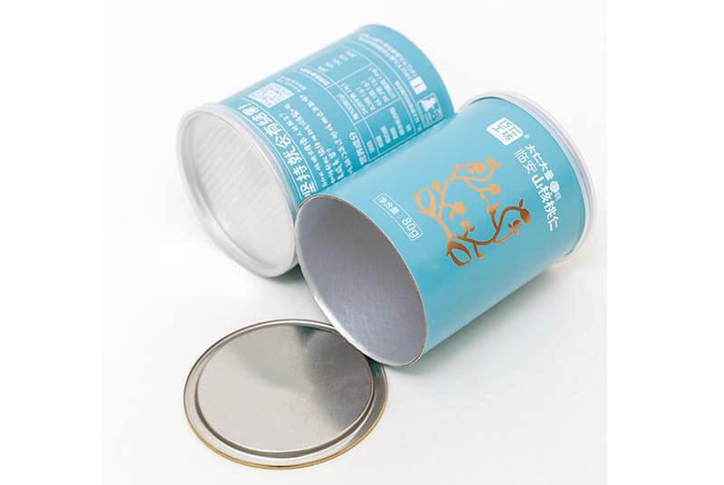 food grade paper tube with aluminium lid