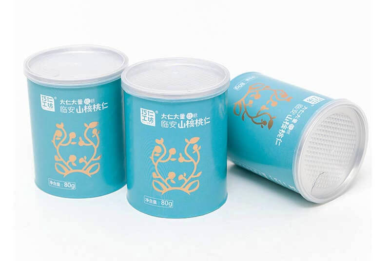 biodegradable airtight paper tube packaging